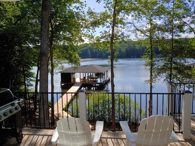 "Photo for ""Toes in the Water"" at Lake Gaston - Custom Home on Large Cove"