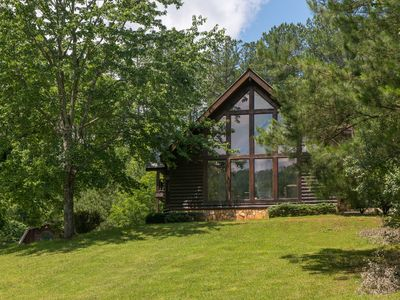 Photo for Secluded lodge w/ 19 acres, creek & fish pond - groups and ATVs welcome!