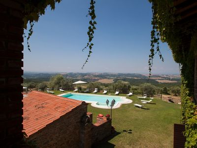 Photo for Wonderful private villa with WIFI, A/C, private pool, hot tub, TV, pets allowed and parking