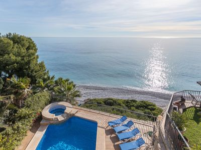 Photo for First Line Villa with access to the sea with private swimming pool and yacuzzi!