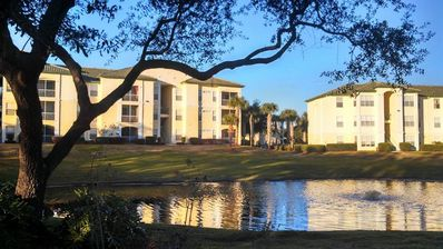 Photo for Legacy Dunes, Relax and unwind, POOL! Lake View Condo just 4 miles from Disney