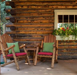 Enjoy the local life from the privacy of the front porch