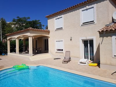 Photo for Villa with pool in port camargue close to the sea and the marina.