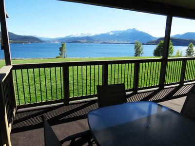 Photo for Lakefront-End Unit, Views, Deck Elevator. Walk to Rec Path, Marina, Dining