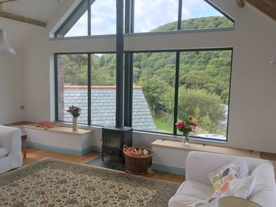 Photo for Great for family holidays -overlooking Crackington Haven with stunning views