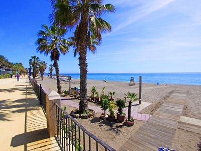 Photo for 1105 Beachfront Apartment MARBELLA Golden Mile 4 POOLS
