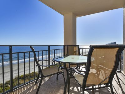 Photo for Oceanfront 4 bedroom condo, wireless internet, corner southside unit, pool