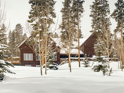 Photo for New Listing! Secluded Peak 7 Estate w/ Chef's Kitchen, Game Room & Big Deck