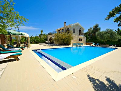 Photo for Argaka - Luxury 3 Bed Villa - Sea - Huge 14m x 7m Swimming Pool - Jacuzzi