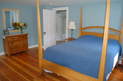 master bedroom upstairs offers a queen bed