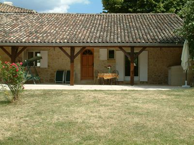 Photo for Peaceful restored stone house,  12km to Saint Emilion & 35 minutes to Bordeaux