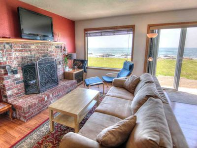 Photo for Oceanfront Wave Watching with Hot Tub & Walk To Everywhere in Yachats! FREE NIGHT!