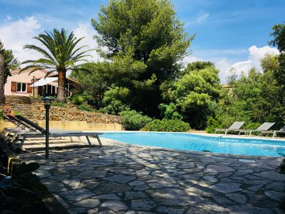 Photo for THE FAVIERE - VILLA WITH LARGE SWIMMING POOL 10 * 4 IN PEACE