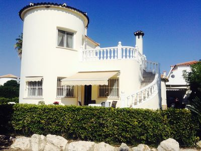 Photo for Exclusive villa with swimming pool in a beautiful garden to the golf course and the sandy beach