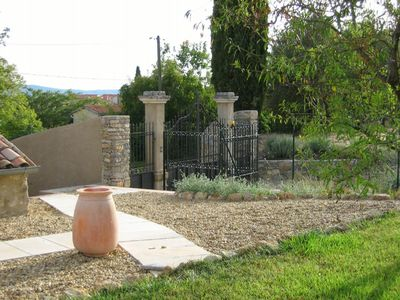 Entrance gates from courtyard