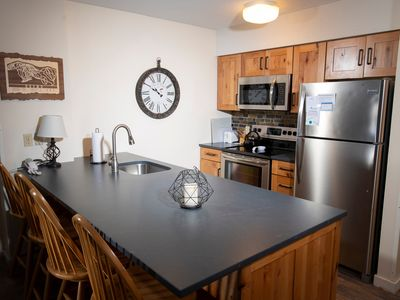Photo for Mountain Lodge at Okemo-1Br Fireplace & Updated Kitchen