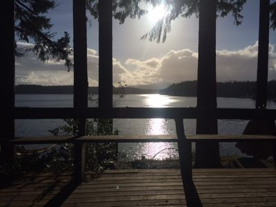 Photo for 2+ Br, 1 Ba 100' Waterfront Cottage steps to private beach on Puget Sound slps 6