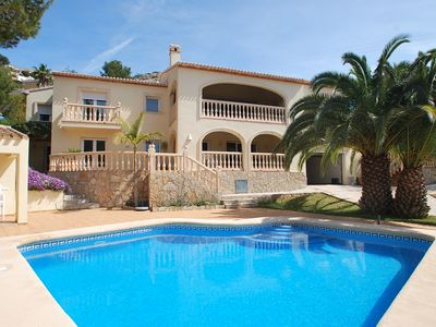 Photo for villa nearby the beach with private heated pool, sea views, internet, airconditi