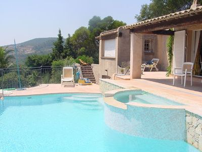 Photo for Villa with dominating 180° sea view in a private estate with Jetstream pool