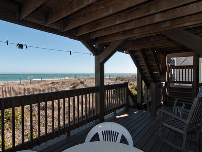 Photo for Inexpensive, oceanfront unit near the pier with spanning ocean views