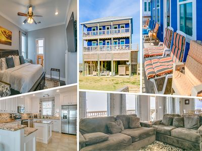 Photo for Beachfront Home: 5 Bedrooms - 2 Master Suites - 3 King Beds - Stavanger Beach