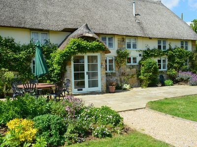 Photo for Luxury 5 Star Thatched Cottage, Dorset, Bridport, Secluded Position - Hot Tub