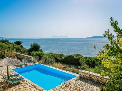 Photo for Coastal villa with great sea views, private pool, swimming platform immediately below the villa, free Wi-Fi & air con