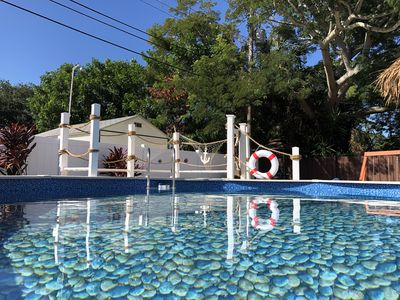 Photo for Heated pool Beach style 3BR/2BR remodeled house close 6 min to beach
