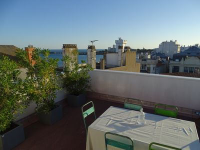 Photo for Superb apartment Roof Top 2 bedroom roof terrace 360 ° sea and city view