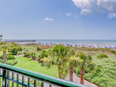 Photo for MANY NEW UPGRADES 4 BR Oceanfront , Direct Oceanfront Beachfront, walk to dining