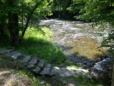 Photo for Located on a mountain stream with a great view of the river.  You are only 29 feet off the water.