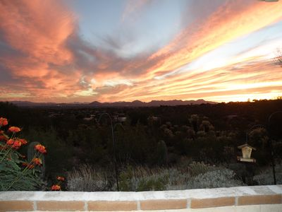 Glorious Arizona sunsets from wrap around patios