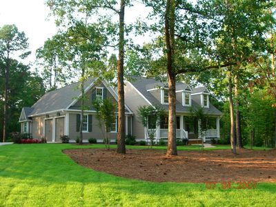 Photo for Great Waters Vacation House on Peaceful Wooded Corner Lot.