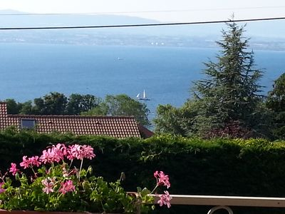 Photo for Apartment 83 m2 in villa view Lake Geneva and Golf Evian on foot