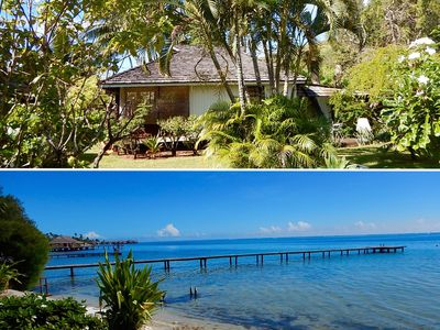 Photo for Poerani Moorea: Beautiful Polynesian Bungalow Facing The Lagoon - Up To 4 Pers.