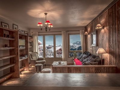 Photo for Beautiful wooden apatment in Courchevel 1850