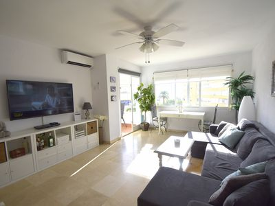 Photo for Spacious and very close to La Carihuela, with terrace and swimming pool open all year