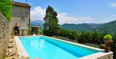 Photo for Gran Burrone- 3 bd Tuscan villa with landscaped gardens and Jacuzzi in La Rocca