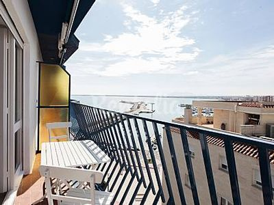 Photo for COZY AND CENTRAL APARTMENT WITH SEA VIEW, TERRACE AND WIFI.