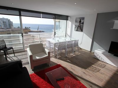 Photo for Rubens Mar Apartments - Duplex facing the beach