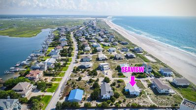 Photo for Ocean view duplex just steps from the beach!