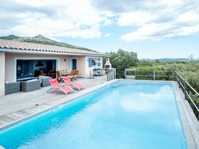 Photo for Villa with private pool and panoramic sea and mountain views