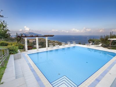 Photo for Villa Elia 1 with Private Pool, Sea View, Terraces, Parking and Garden