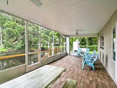 Photo for Updated Rustic Yankeetown Home w/Lanai, Canal Dock