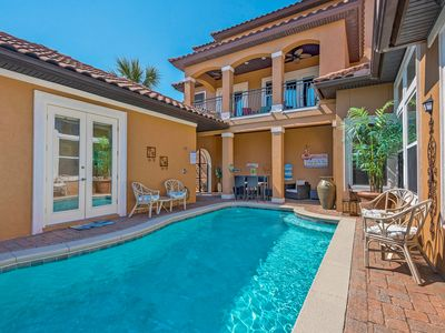 Photo for FREE Golf Cart, Private Pool, Beautiful Updated Home + VIP Perks!! Sleeps 16!