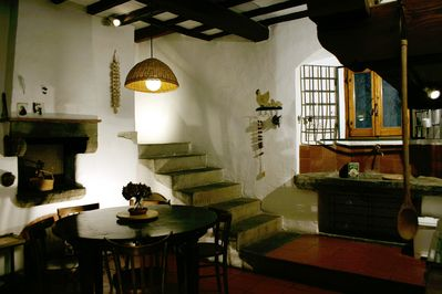 Tipical Old Tuscan Style Kitchen