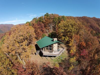 """Cold Mountain @ 3600 feet.  Enjoy Beautiful Views from large deck at """"Old Sarum"""""""