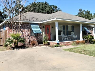 Photo for NEW BEACH HOUSE! -WALK TO THE BEACH-PRIVATE POOL-PATIO-FENCED IN BACK YARD-GRILL
