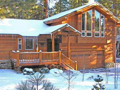 Photo for Comfortable large home with Tahoe Forest views on a quiet street close to hiking