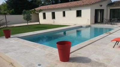 Photo for At the foot of Ventoux, new cottage air conditioned with private pool